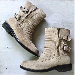 Zara Suede Engineer Boots